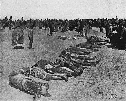 Victims of the Red Terror in Crimea, 1918 Evpatoria red terror corpses at sea coast.jpg