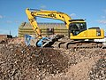 Excavator on a development site in Worcester - geograph.org.uk - 1534069.jpg