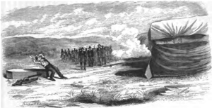 John D. Lee - Drawing of Lee's execution.