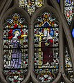 Exeter Cathedral east window detail, St Sidwell and St Helen. (36102144164).jpg