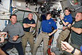 Expedition 27 and STS-134 crew members shortly after the hatches were opened.jpg