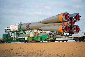 Soyuz TMA-14M - Image: Expedition 41 Rollout (201409230023HQ)