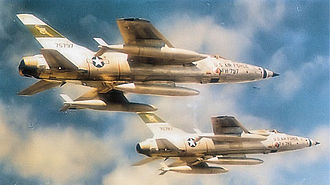 335th Fighter Squadron - Two 335th Tactical Fighter Squadron F-105B Thunderchiefs