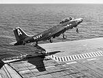 F2H-3 of VF-141 over flight deck of USS Randolph (CVA-15) 1954.jpg
