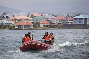 Navy of the Democratic Republic of the Congo - A FARDC naval patrol on Lake Kivu in 2012