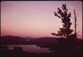 FIRST LAKE AT DUSK, SEEN FROM THE TOP OF BALD MOUNTAIN, NEAR THE VILLAGE OF OLD FORGE - NARA - 554403.tif
