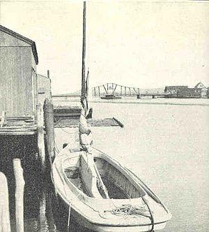Sharpie (boat) -  Oyster Sharpie, Quinipiac River, Connecticut