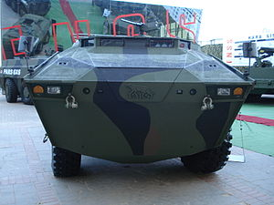 International Defence Industry Fair - An FNSS Pars 8x8 armoured personnel carrier at the IDEF 2007 fair in Ankara.