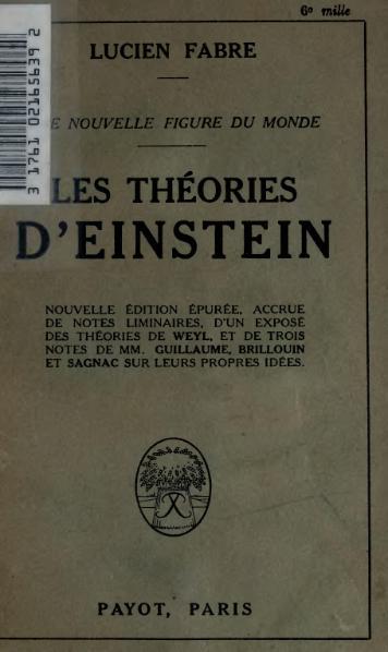 File:Fabre - Une nouvelle figure du monde. Les Théories d'Einstein.djvu