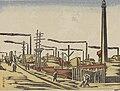Factory Area Honjo Fukagawa - by Maekawa Senpan (新東京百景「工場地帯 本所」前川千帆).jpg