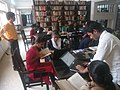 Faculty members training students to add the references to Wikipedia articles.jpg