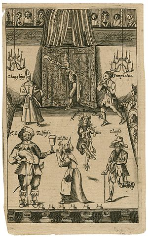 Mistress Quickly - Image: Falstaff and other theatrical characters