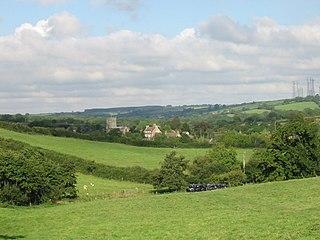 Toller Porcorum Village in Dorset, England