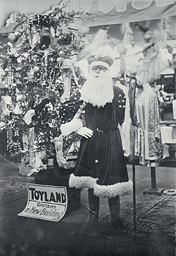 Father Christmas at T. Armstrong & Co. premises