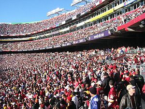 FedExField - Redskins fans at FedExField in October 2003.