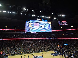 FedExForum - Digital upgrades, which included a new scoreboard, were installed in time for the 2017-18 NBA season.