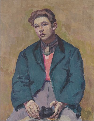 Young man with Ocarina. By Felix Esterl (1894–1931)