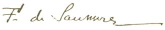 Ferdinand de Saussure - Image: Ferdinand de Saussure signature