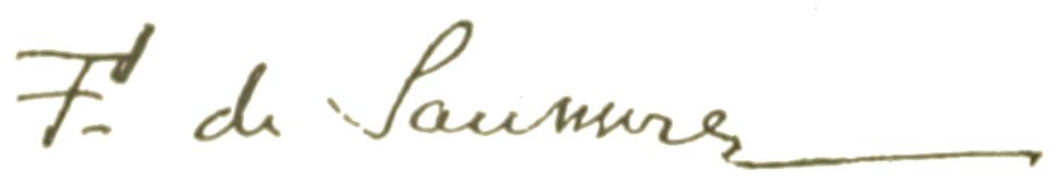 Ferdinand de Saussure signature