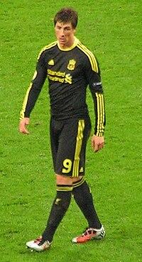 Fernando Torres em jogo contra o Utrecht. 6b5a9a90f2776