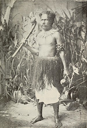 English: A Fijian warrior.