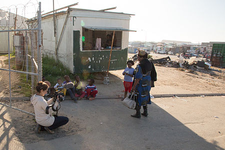 Filming Documentary about Sinenjongo High School in Joe Slovo Park, Cape Town, South Africa - 03.jpg