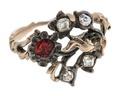 Fingerring av guld och silver med almandin och diamanter, 1750-tal - Hallwylska museet - 110192.tif