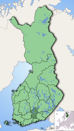 Päijänne Tavastia on a Map of Finland
