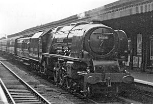 Finsbury Park station - An LMS Pacific during the 1948 Exchange Trials