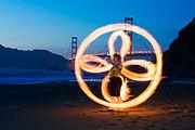 Fire Dancing Golden Gate Bridge