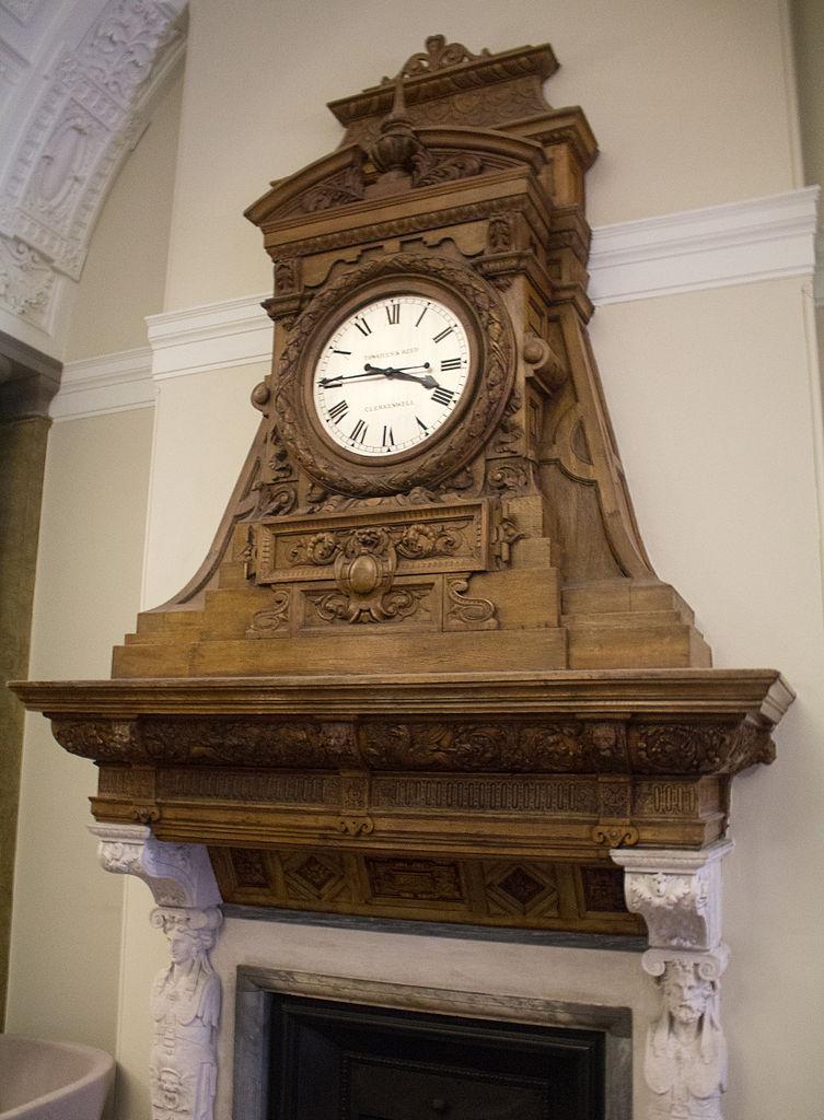 Fireplace Design fireplace clock : File:Fireplace clock, Foreign Office.jpg - Wikimedia Commons