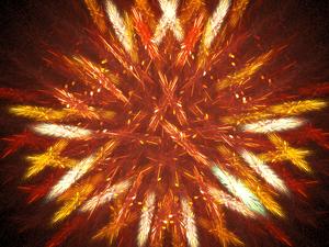 Apophysis (software) - Image: Fireworks fractal flame