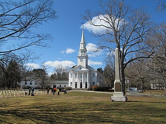 Religion in the United States - A Congregational church in Cheshire, Connecticut