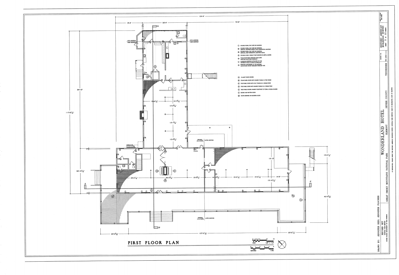 File first floor plan elkmont historic district for Servant quarters floor plans