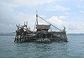 Fisherman's hut, Pangandaran 02.JPG