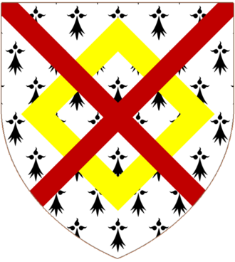 John FitzGerald, Baron FitzGerald - The arms of Fitzgerald: Ermine a Mascle Or over all a Saltire Gules
