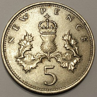 Coin problem - Image: Five New Pence