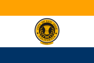 San Jose mayoral election, 2014 - Image: Flag of San Jose, California
