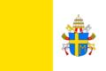 Flaga Watykanu z herbem Jana Pawła II.png