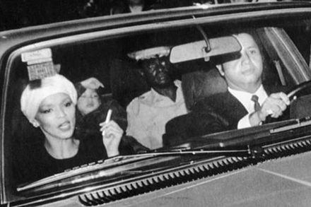 Jean-Claude and Michele Duvalier en route to the airport to flee the country, 7 February 1986 Fleeing Duvaliers.jpg