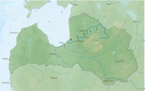 Gauja - Image: Fluss lv Gauja