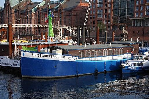Flussschifferkirche Hamburg im Zollkanal
