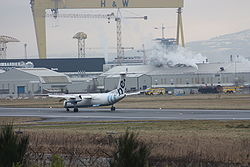 Flybe (G-JECP), Belfast City Airport, February 2010 (04).JPG