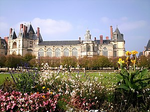 Edict of Fontainebleau - The palace at Fontainebleau as it now stands