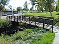 Footbridge in Murray City Park, Murray, Utah, Oct 16.jpg