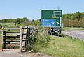 Footpath signs in profusion at the A45 - geograph.org.uk - 1324582.jpg