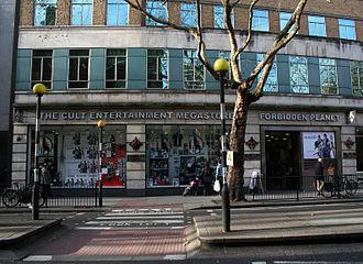 Forbidden Planet (bookstore) - The London Forbidden Planet on Shaftesbury Avenue