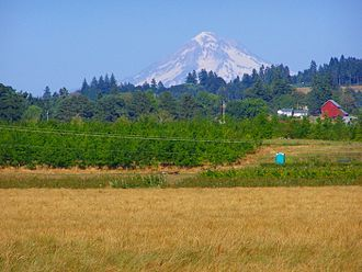 Canby, Oregon - Mount Hood, as seen from the Molalla Forest Road in Canby, between Southeast 13th St. and Southeast Township Road
