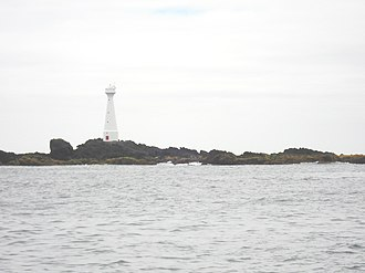 Formigas - The lighthouse on Formigão, the largest islet of the Formigas