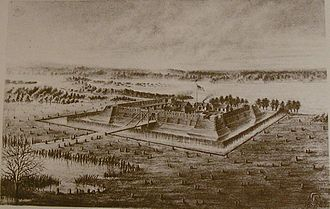 Fort Nelson (Kentucky) - 1885 sketch of the fort